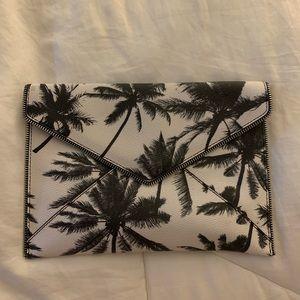 Rebecca minkoff leo clutch in palm tree print